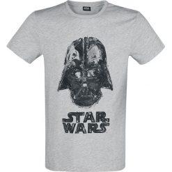 Star Wars Darth Vader T-Shirt odcienie jasnoszarego. Szare t-shirty męskie z nadrukiem Star Wars, xxl, z okrągłym kołnierzem. Za 62,90 zł.