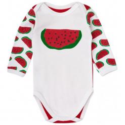 Garnamama Body Dziecięce Z Arbuzami 80 Czerwone. Czerwone body niemowlęce marki Garnamama, z nadrukiem. Za 33,00 zł.