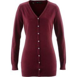 Długi sweter rozpinany bonprix czerwony klonowy. Czerwone kardigany damskie bonprix. Za 59,99 zł.