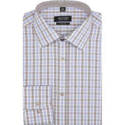 Koszula bexley 2041 długi rękaw slim fit brąz. Szare koszule męskie slim marki Recman, m, z długim rękawem. Za 49,99 zł.