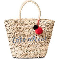 Torba plażowa shopper bonprix naturalno-lazurowy. Brązowe torby plażowe marki bonprix. Za 59,99 zł.