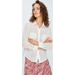 Answear - Koszula. Szare koszule damskie marki ANSWEAR, l, z bawełny, casualowe, z klasycznym kołnierzykiem, z długim rękawem. W wyprzedaży za 99,90 zł.