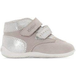 Wysokie buty sportowe BONKRO. Niebieskie buty sportowe dziewczęce marki Kickers, z kauczuku, na sznurówki. Za 348,56 zł.