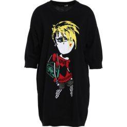 Odzież damska: Love Moschino KNIT DRESS Sukienka dzianinowa black