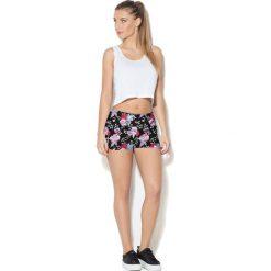 Spodnie sportowe damskie: Colour Pleasure Spodnie damskie CP-020 7 różowo-czarno-zielone r. M-L