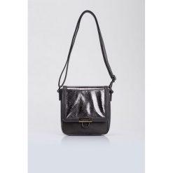 Torebki klasyczne damskie: Mała torebka z połyskującym panelem