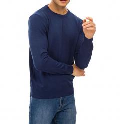 Sweter w kolorze niebieskim. Niebieskie swetry klasyczne męskie GALVANNI, l, z okrągłym kołnierzem. W wyprzedaży za 229,95 zł.