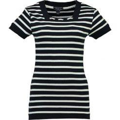 """T-shirty damskie: Koszulka """"Jitalienne"""" w kolorze granatowo-białym"""
