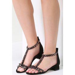 Czarne Sandały Incorruptible. Czarne rzymianki damskie vices, na wysokim obcasie. Za 69,99 zł.