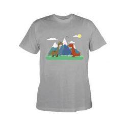 T-shirty chłopięce: Koszulka DINO KIDS LIGHT GREY 134