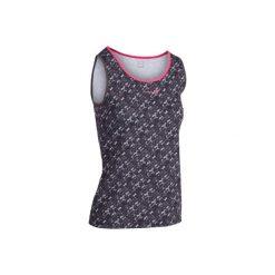 Koszulka Soft 500 szara. Czarne bluzki sportowe damskie marki ARTENGO, z materiału. W wyprzedaży za 19,99 zł.