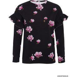 Bluza Magnolie z falbankami. Czarne bluzy dziewczęce rozpinane Pakamera. Za 130,00 zł.