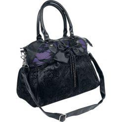Banned Alternative Katebag Torebka - Handbag czarny/jasnofioletowy. Czarne torebki klasyczne damskie Banned Alternative, w koronkowe wzory, z koronki, małe, z kokardką. Za 184,90 zł.