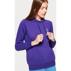 Bluza hoodie - Fioletowy. Fioletowe bluzy damskie marki Reserved, l, z kapturem. Za 69,99 zł.