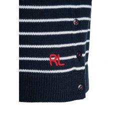 Polo Ralph Lauren EYELET Sweter summer navy/white. Niebieskie swetry klasyczne damskie Polo Ralph Lauren, z bawełny, polo. Za 399,00 zł.