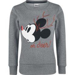 Bluzy damskie: Myszka Miki i Minnie Oh Deer Bluza damska odcienie szarego
