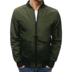 Kurtki męskie bomber: Kurtka męska bomber jacket oliwkowa (tx2169)