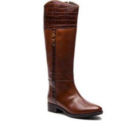 Oficerki GEOX - D Felicity C D84G1C 0436Y C0013 Brown. Brązowe buty zimowe damskie Geox, ze skóry. Za 799,00 zł.