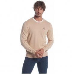 Polo Club C.H..A Sweter Męski M Beżowy. Niebieskie swetry klasyczne męskie marki Oakley, na lato, z bawełny, eleganckie. W wyprzedaży za 239,00 zł.