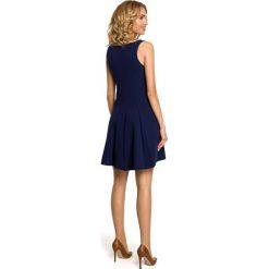 ROSE Gładka sukienka bez rękawów - granatowa. Brązowe sukienki rozkloszowane marki Moe, l, z bawełny. Za 179,00 zł.
