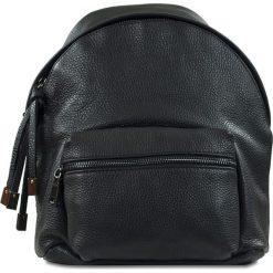 """Plecaki damskie: Skórzany plecak """"Brenda"""" w kolorze czarnym – 24 x 29 x 6 cm"""