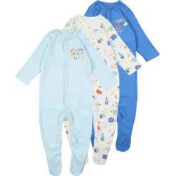 Mothercare BOYS MUMMY AND DADDY SLEEPSUIT BABY 3 PACK Piżama blue. Białe bielizna chłopięca marki Reserved, l. Za 129,00 zł.