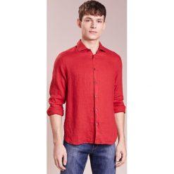 Koszule męskie na spinki: 120% Lino CAMICIA UOMO Koszula red