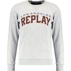 Bluzy męskie: Replay Bluza light grey melange