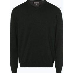 Finshley & Harding - Sweter męski z dodatkiem kaszmiru, zielony. Czarne swetry klasyczne męskie marki Finshley & Harding, w kratkę. Za 229,95 zł.