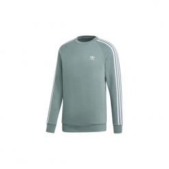 Bluzy adidas  Bluza z zaokrąglonym dekoltem 3-Stripes. Zielone bluzy męskie rozpinane marki Adidas, l. Za 249,00 zł.