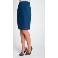 Spódnice wieczorowe: Niebieska spódnica do kolan QUIOSQUE