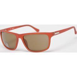 Calvin Klein - Okulary CK3161S.286. Brązowe okulary przeciwsłoneczne męskie aviatory Calvin Klein, prostokątne. Za 479,90 zł.