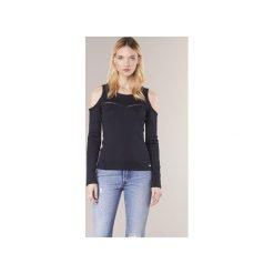 T-shirty z długim rękawem Guess  SIKNEYENE. Niebieskie t-shirty damskie marki Guess, z materiału. Za 199,20 zł.