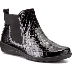 Botki CAPRICE - 9-25457-29 Black Croco 064. Czarne buty zimowe damskie Caprice, z materiału. W wyprzedaży za 229,00 zł.