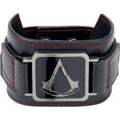 Assassin's Creed Metal Crest Bransoletka czarny. Czarne bransoletki damskie z cyrkoniami marki Assassin's Creed, metalowe. Za 32,90 zł.