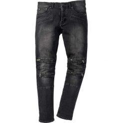 """Dżinsy ze stretchem Skinny Fit Straight bonprix czarny denim """"used"""". Czarne jeansy męskie regular bonprix. Za 159,99 zł."""