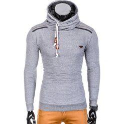Bluzy męskie: BLUZA MĘSKA Z KAPTUREM B732 – JASNOSZARA