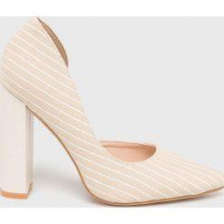 Answear - Czółenka. Szare buty ślubne damskie marki ANSWEAR, z materiału, na obcasie. Za 119,90 zł.