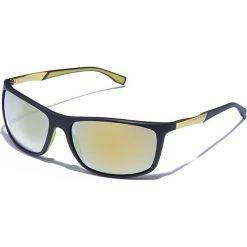 Okulary przeciwsłoneczne męskie: Okulary męskie w kolorze czarno-złotym