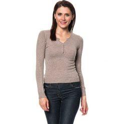 Swetry klasyczne damskie: Sweter w kolorze szarobrązowym