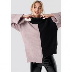Trendyol Kolorowy sweter - Black,Pink,Multicolor. Szare golfy damskie marki Vila, l, z bawełny, z okrągłym kołnierzem. Za 100,95 zł.