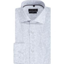 Koszula SIMONE KDWS000391. Szare koszule męskie na spinki marki S.Oliver, l, z bawełny, z włoskim kołnierzykiem, z długim rękawem. Za 199,00 zł.