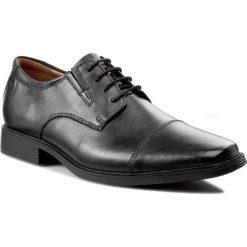 Półbuty CLARKS - Tilden Cap 261103097 Black Leather. Czarne półbuty skórzane męskie Clarks, na sznurówki. W wyprzedaży za 219,00 zł.