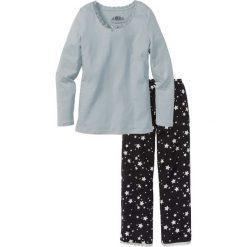 Piżamy damskie: Piżama bonprix czarno-srebrnoszary z nadrukiem