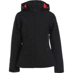 Icepeak LARA Kurtka przeciwdeszczowa black. Czarne kurtki damskie softshell Icepeak, z materiału, outdoorowe. W wyprzedaży za 279,30 zł.