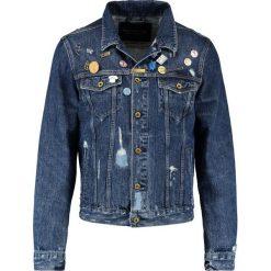 Scotch & Soda TRUCKER  Kurtka jeansowa dark blue. Niebieskie kurtki męskie jeansowe marki Reserved, l. W wyprzedaży za 461,45 zł.