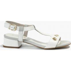 Sandały białe Bibiana. Fioletowe sandały damskie marki Badura. Za 151,99 zł.