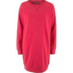 Sukienka dresowa bonprix czerwony. Szare sukienki dresowe marki bonprix, melanż, z kapturem, z długim rękawem, maxi. Za 74,99 zł.