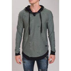 Bluzy męskie: Khaki Bluza M2050