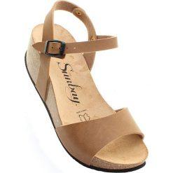 """Rzymianki damskie: Sandały """"Yucca"""" w kolorze jasnobrązowym"""